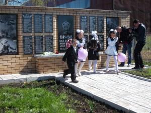 открытие памятника в д.Шамметово